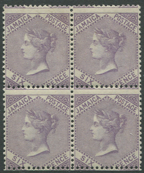 1860-70 Jamaica Pineapple, 6d dull lilac (SG5),