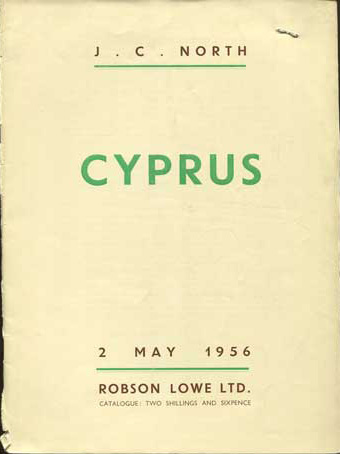 1956 (2 May) J.C. North collection of Cyprus.