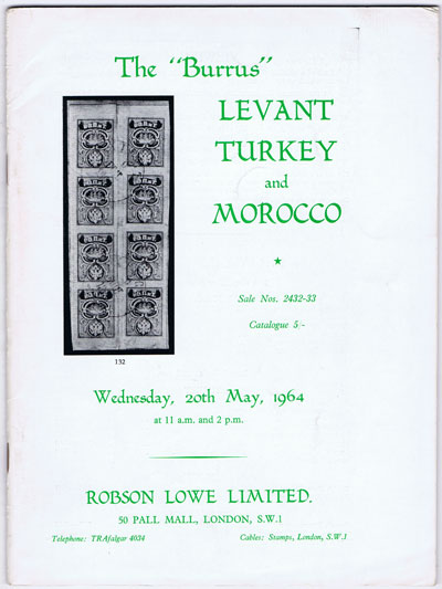 1964 (20 May) Burrus Levant, Turkey and Morocco.