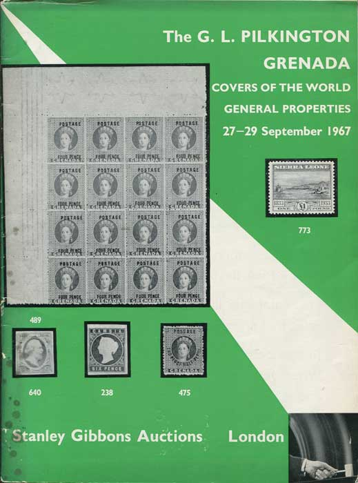 1967 (27-29 Sep) G.L. Pilkington Grenada + covers of the world, etc.