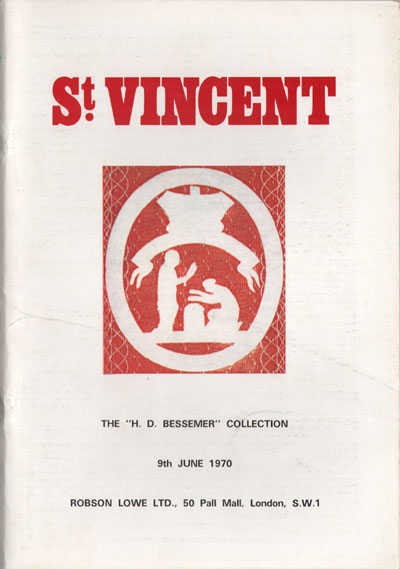 1970 (9 Jun) H.D. Bessemer coll. of St Vincent.