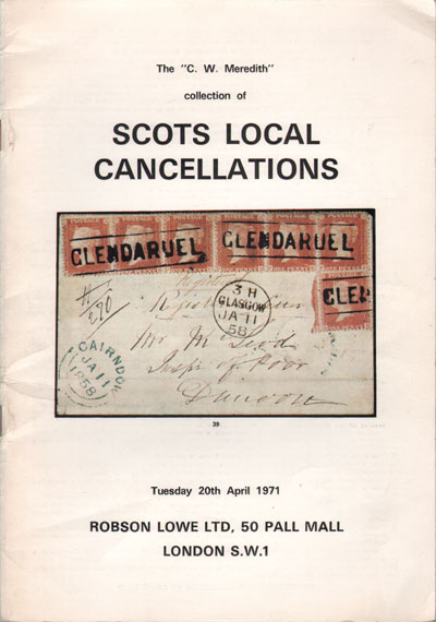 1971 (20 Apr) C.W. Meredith collection of Scots Local Cancellations.