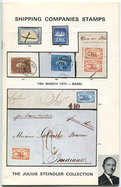 1972 (14 Mar) Shipping Company Stamps. - The Julius Steindler Collection