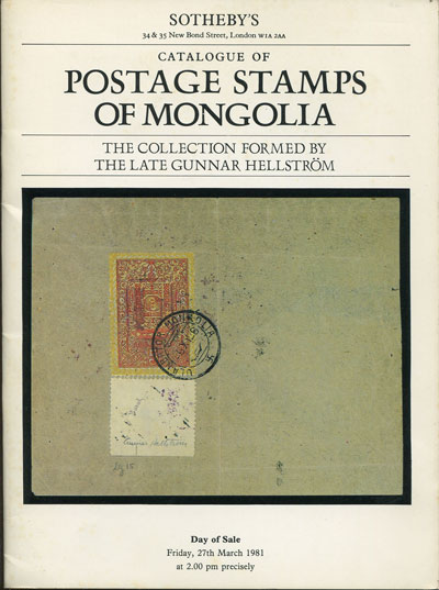 1981 (27 Mar) Postage stamps of Mongolia. - The collection formed by the late Gunnar Hellstrom