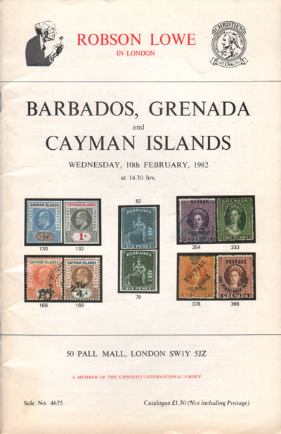 1982 (10 Feb) Barbados, (Olive Blossom) Grenada and Cayman Is.