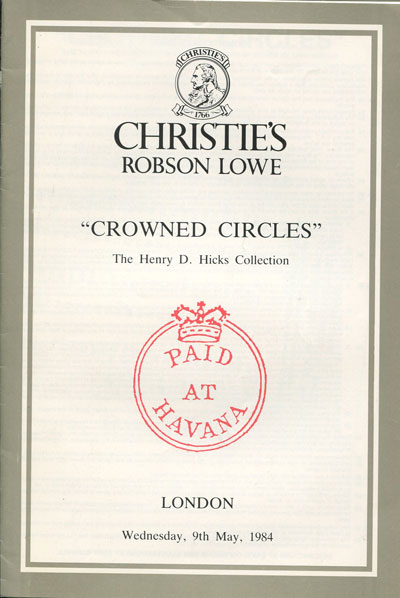 1984 (9 May) Hicks collection of Crown Circles