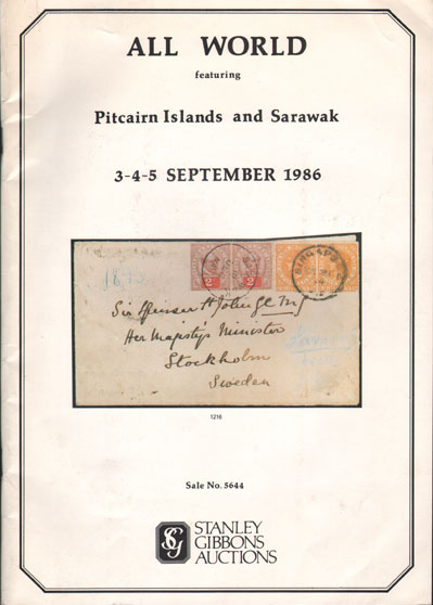 1986 (3-5 Sep) All World - including the George Crabb collection of Pitcairn Islands