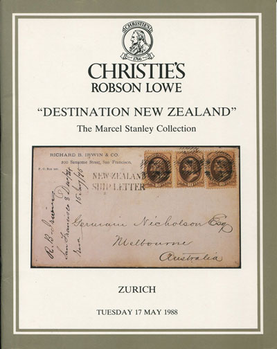 1988 (17 May) Destination New Zealand. - The Marcel Stanley Collection.