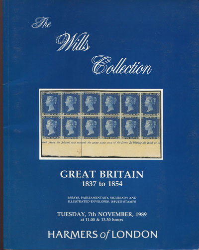 1989 (7 Nov) The Wills Collection. Great Britain 1837 to 1854.