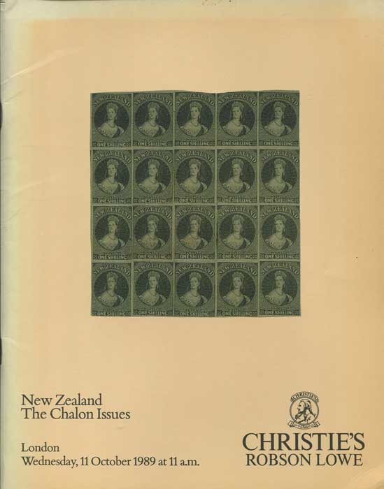 1989 (11 Oct) New Zealand.  The Chalon Issues.
