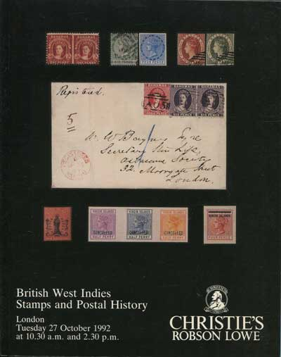 1992 (27 Oct) British West Indies stamps and postal history.