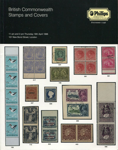 1996 (18 Apr) Br Commonwealth Stamps and Covers - including Fiji collection formed by Conrad Hughes.