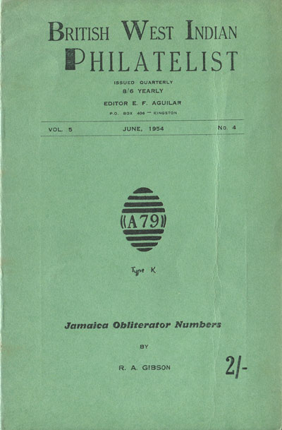 AGUILAR E.F. British West Indian Philatelist Vol. 5, No. 4