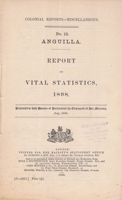 ANGUILLA Report on vital statistics.