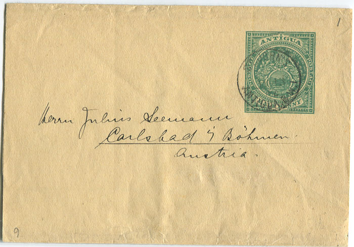 1904 Antigua postal stationery �d wrapper