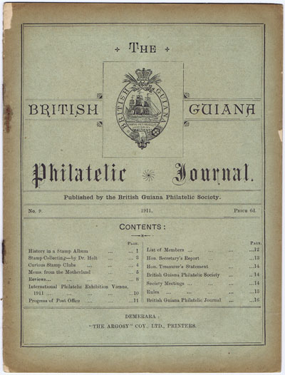 BRITISH GUIANA PHILATELIC SOCIETY The British Guiana Philatelic Journal. - No. 9