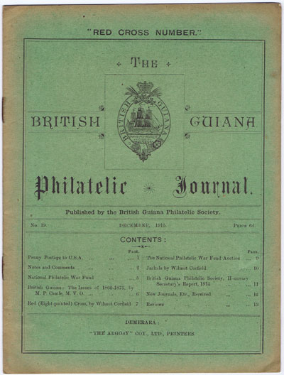 BRITISH GUIANA PHILATELIC SOCIETY The British Guiana Philatelic Journal. - No. 19