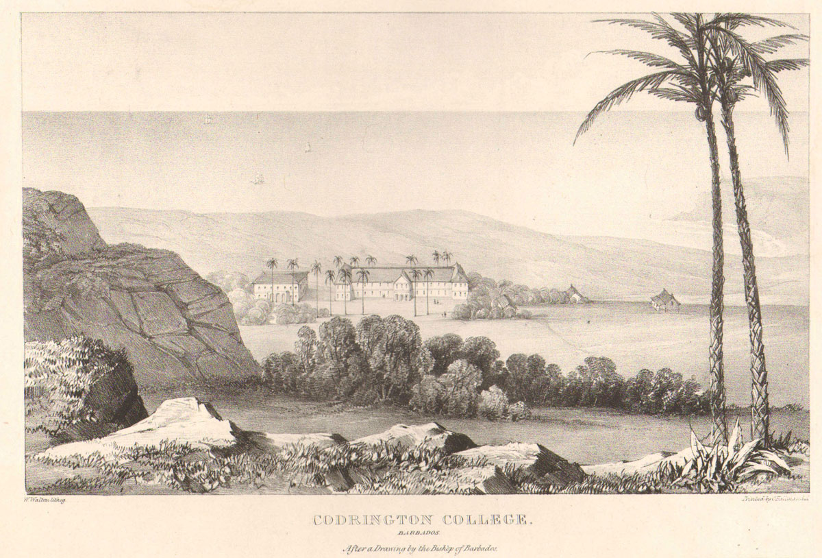 COLERIDGE Codrington College. - Barbados.  After a Drawing by the Bishop of Barbados