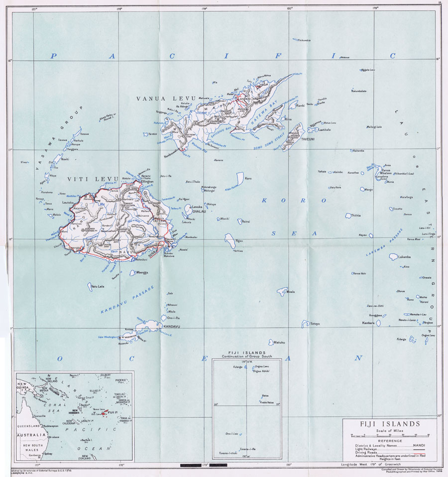 COLONIAL SURVEYS Fiji Islands.