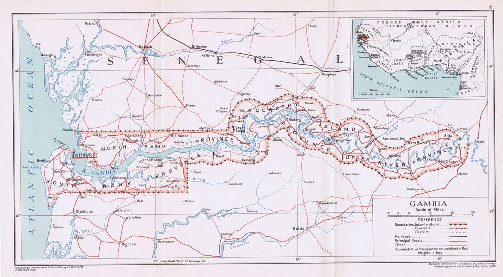 Gambia Maps Prints Photographs Ephemera Pennymeadcom