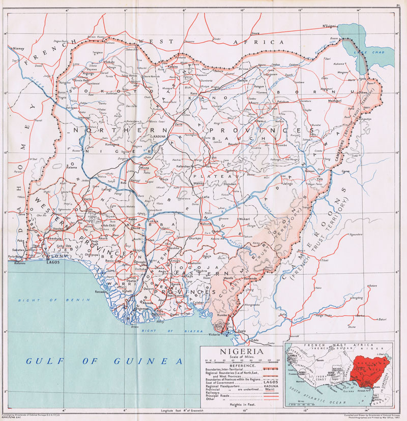 COLONIAL SURVEYS Nigeria.