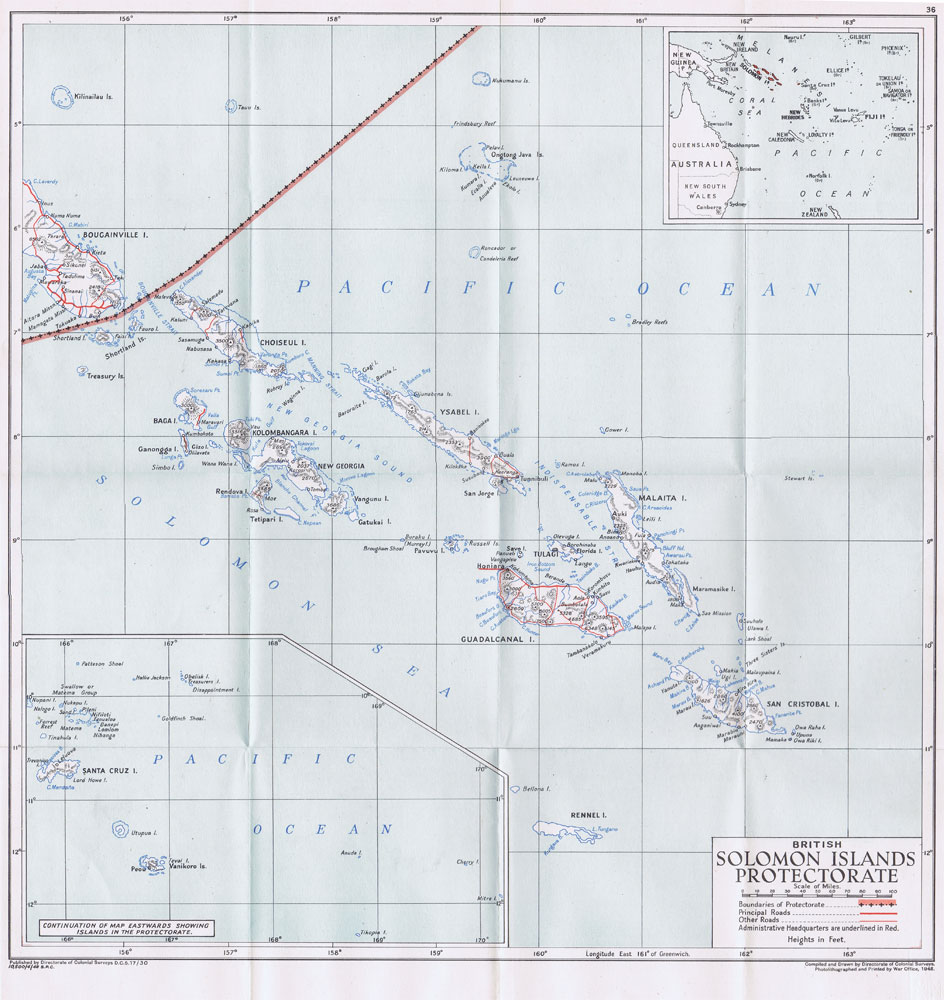 COLONIAL SURVEYS Solomon Islands Protectorate.