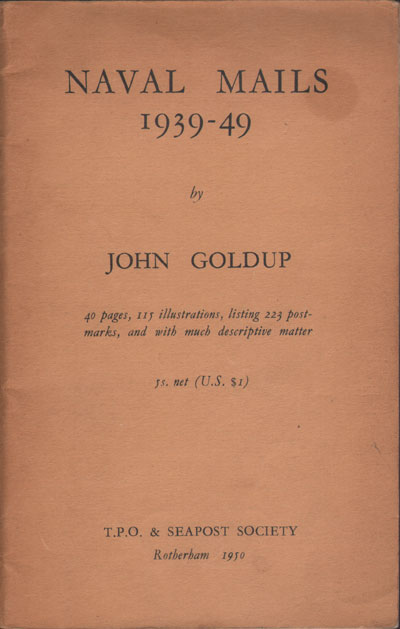 GOLDUP J. Naval Mails 1939-49.