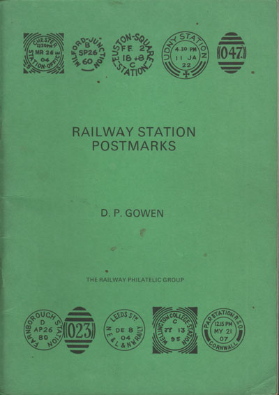 GOWEN D.P. Railway Station Postmarks.