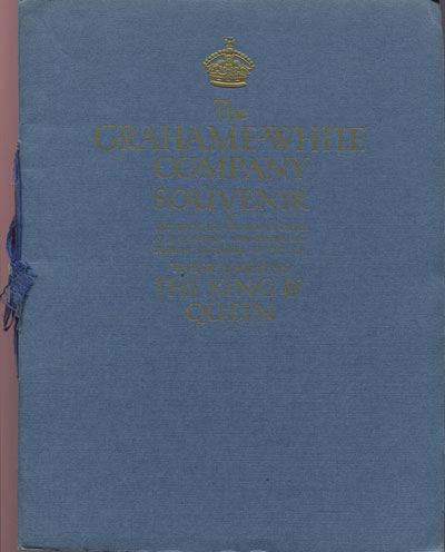 GRAHAME-WHITE COMPANY The Grahame-White Company Souvenir - of the visit to the company