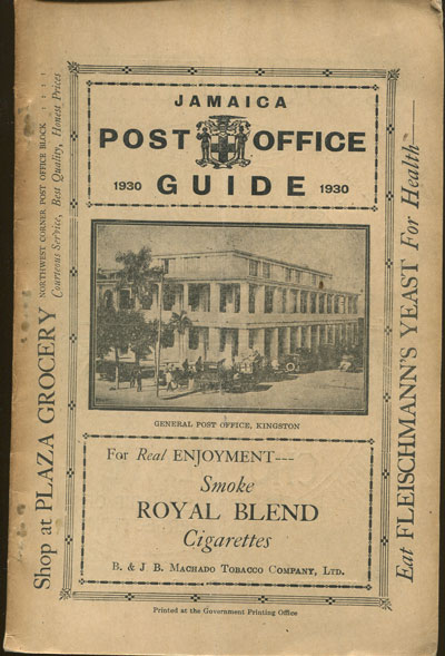 JAMAICA Post Office Handbook, Jamaica, 1930.