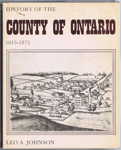 JOHNSON L.A. History of the County of Ontario - 1615 - 1875.