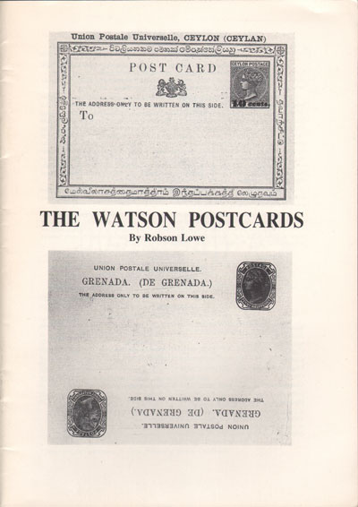 LOWE Robson The Watson Postcards.
