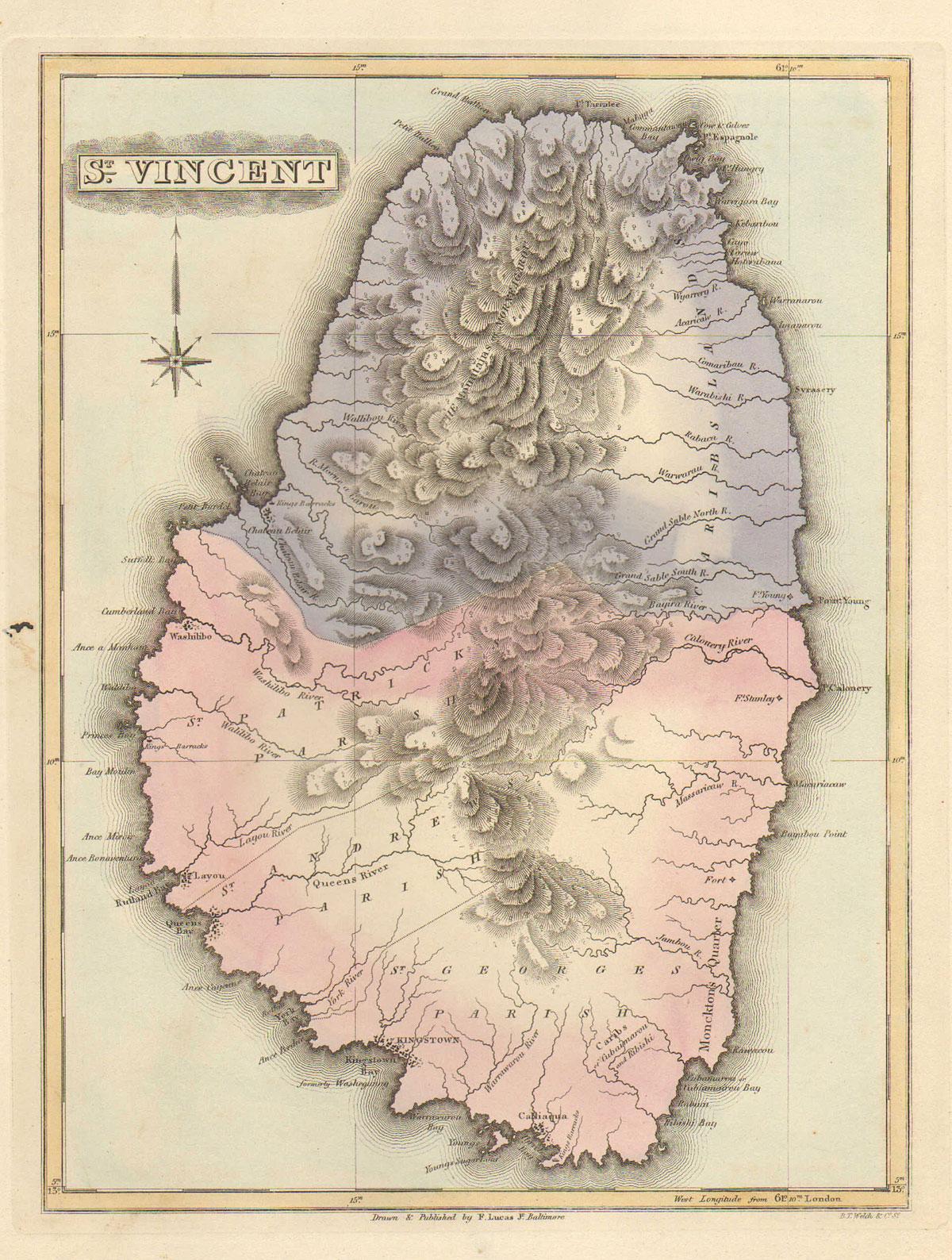 St Vincent Maps Prints Photographs Ephemera