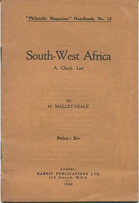 MALLET-VEALE H. South-West Africa. - A check list.