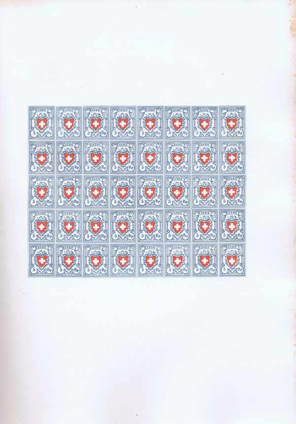 MIRABAUD P. and REUTERSKIOLD A de The postage stamps of Switzerland 1843-1862.