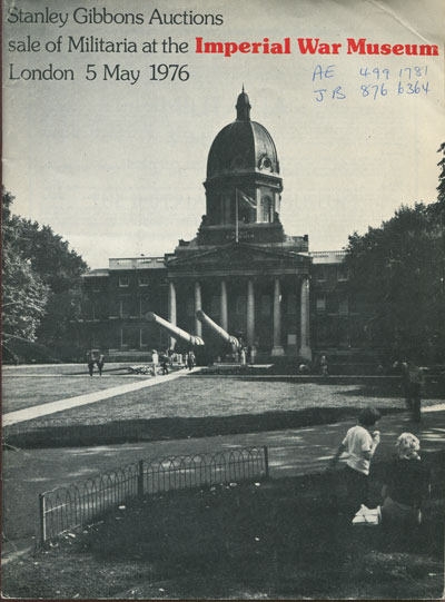 1976 (5 May) Sale of Militaria at the Imperial War Museum