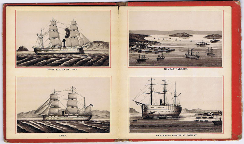 ANON 24 Views of H.M. Indian Troop Ship to India & Back.