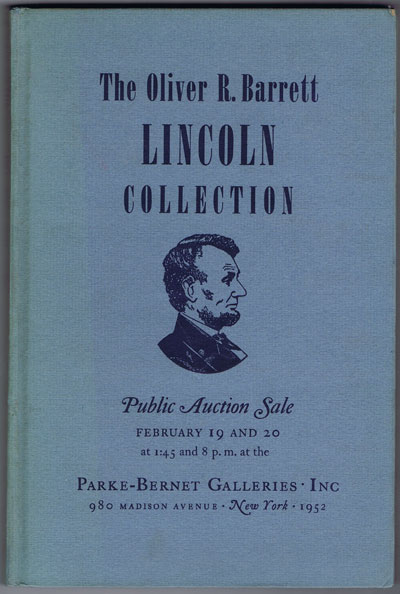 1952 (19-20 Feb) The Oliver R. Barrett Lincoln Collection.