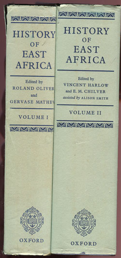 OLIVER R. and MATHEW G. History of East Africa.