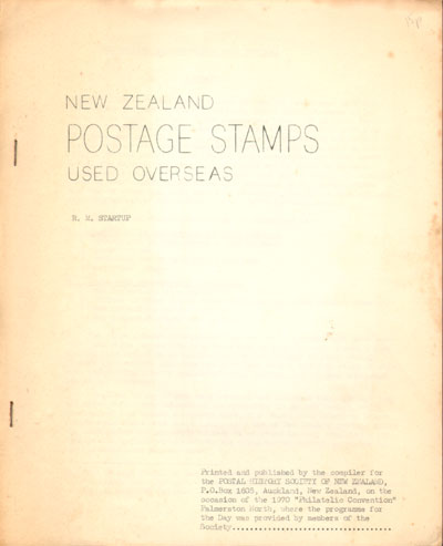 STARTUP R.M. New Zealand Postage Stamps used Overseas.