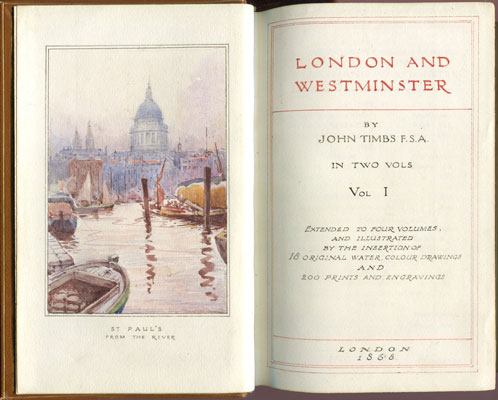 TIMBS J London and Westminster: - City and Suburb.  Strange events, characteristics, and changes, of metropolitan life.