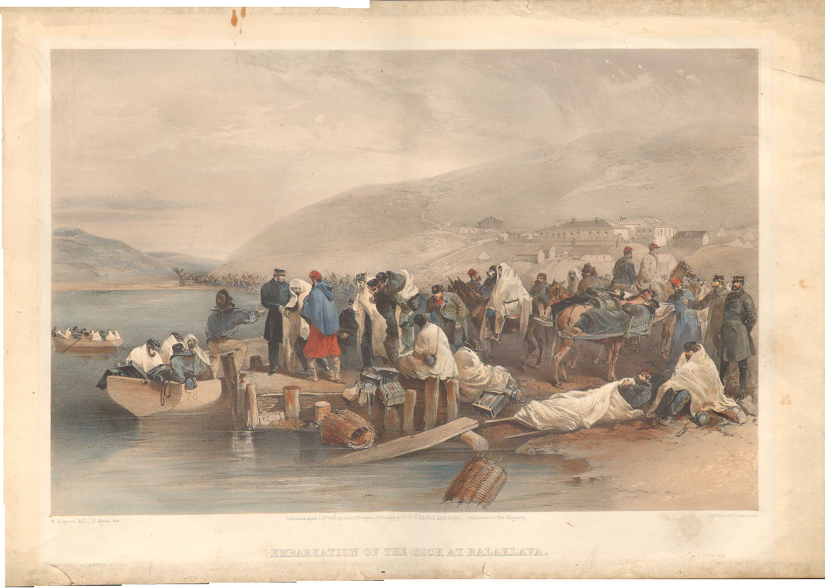 DAY & SON Embarkation of the sick at Balaklava.