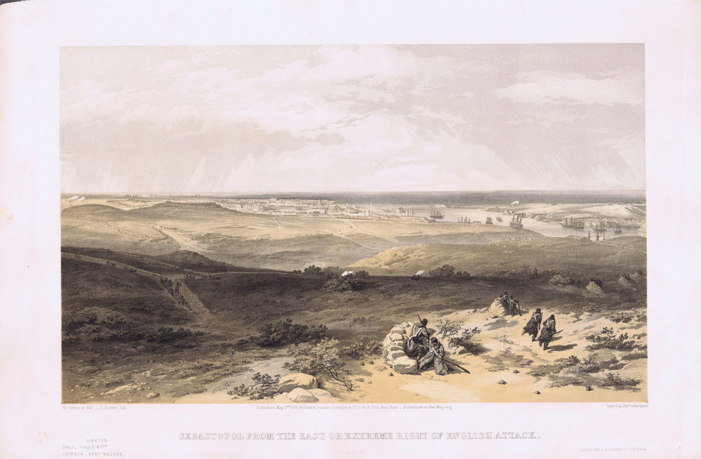 SIMPSON William and PICKEN T. Sebastopol from the east or extreme right of English attack.