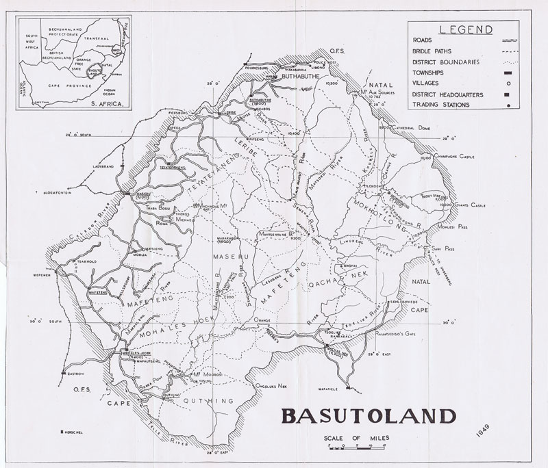 ANON Map of Basutoland