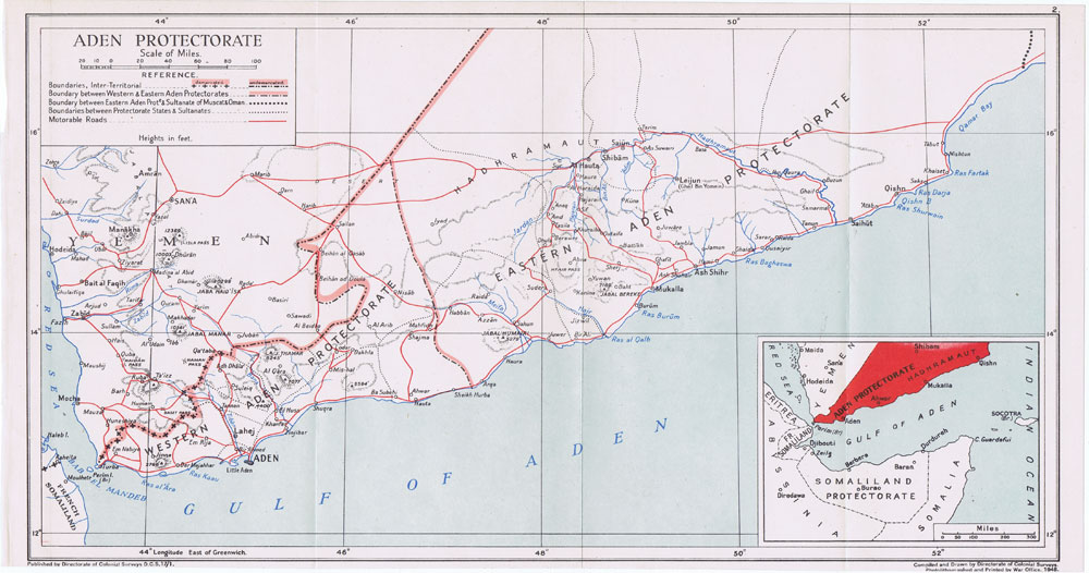 COLONIAL SURVEYS Aden Protectorate.