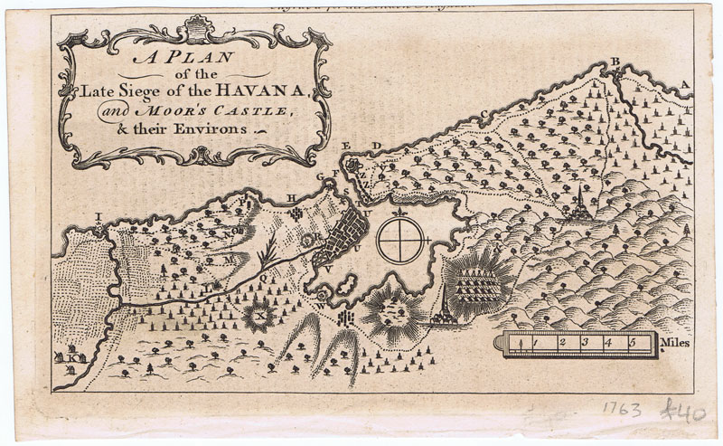 ANON A Plan of the late Siege of the Havana, and Moor
