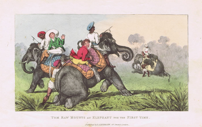 ACKERMANN Tom Raw Mounts an Elephant for the First Time.