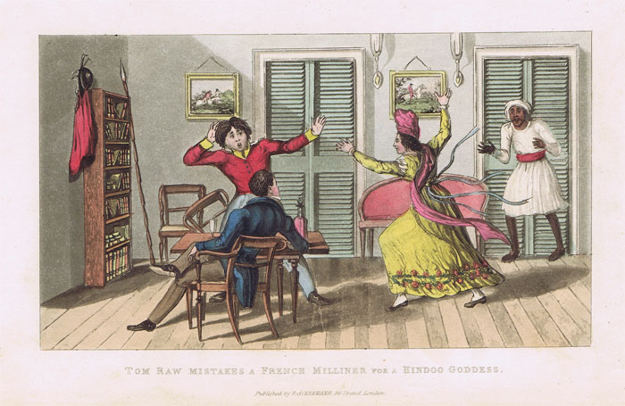 ACKERMANN Tom Raw Mistakes a French Milliner for a Hindoo Goddess.