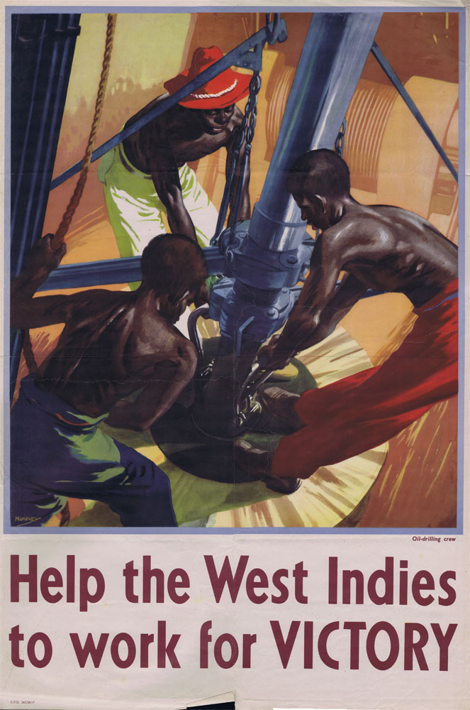 NUNNEY John Help the West Indies to Work for Victory poster.