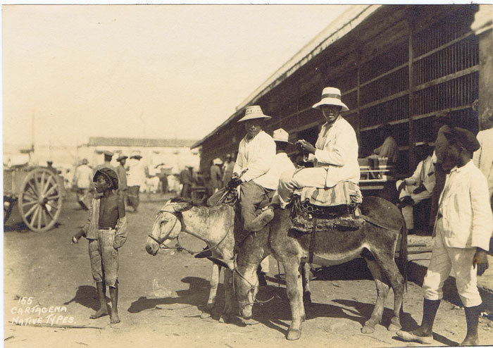 1925 Cartagena Native types, original photograph